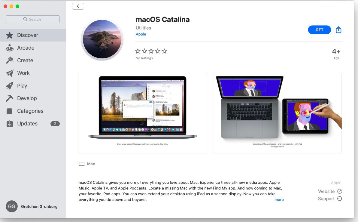 Download macOS Catalina and then transfer to a USB drive