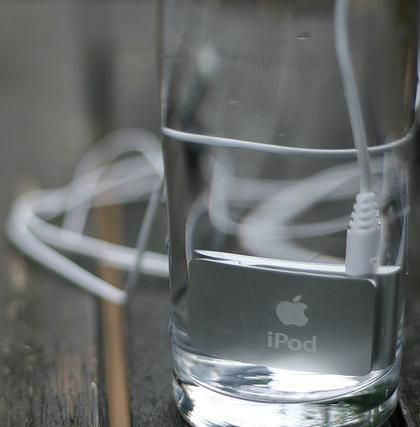 iPod in Glass of Water