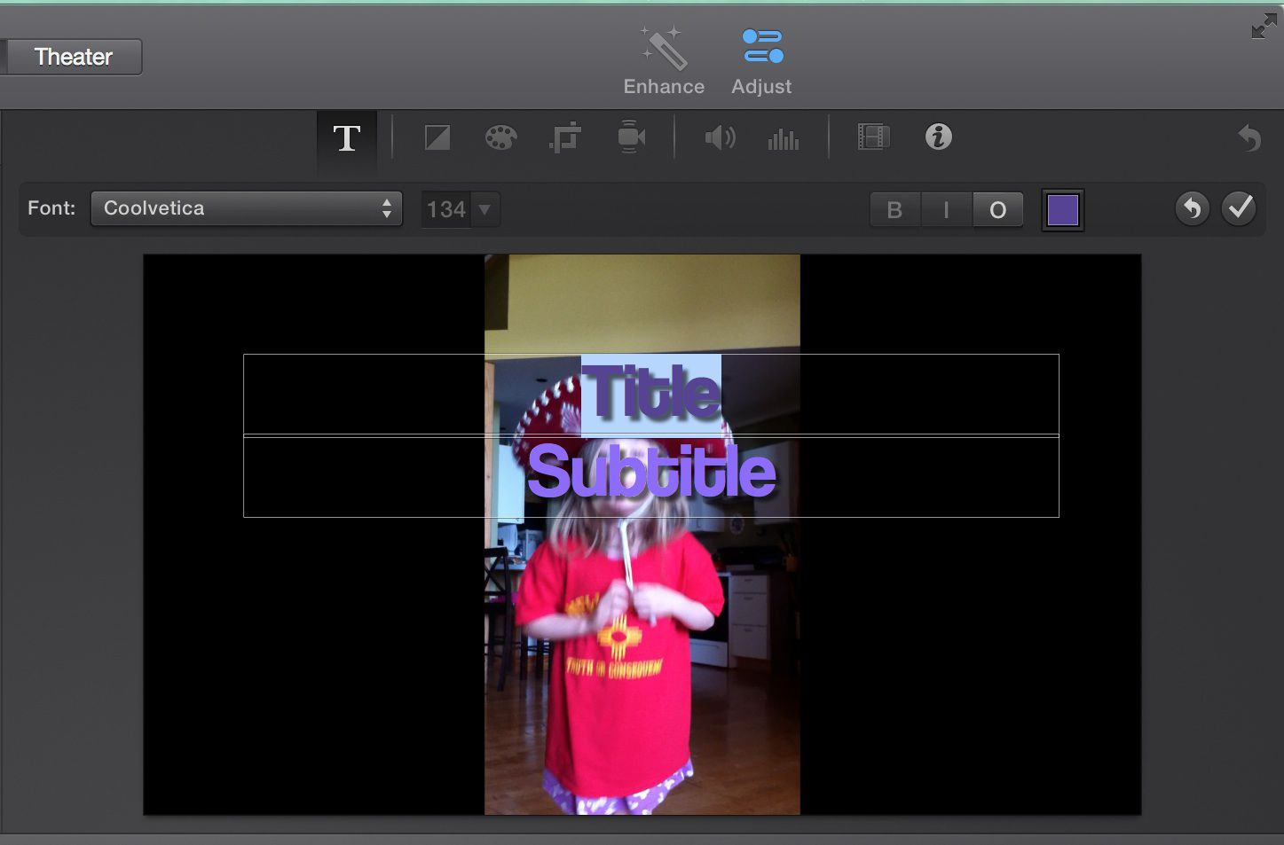 Getting Started With iMovie 10 Titles