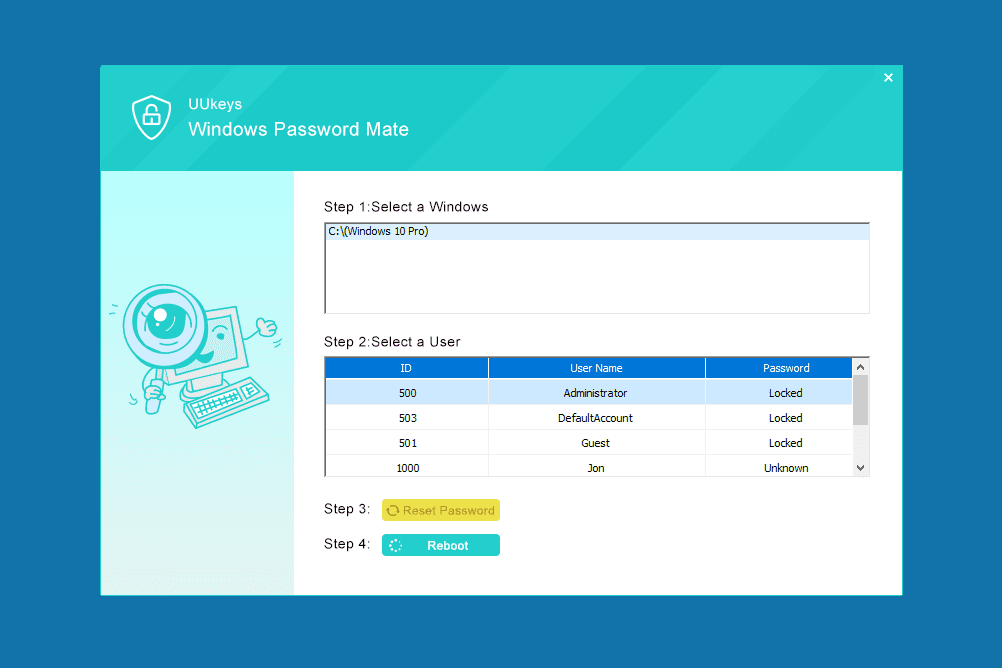 tenorshare windows password recovery tool professional