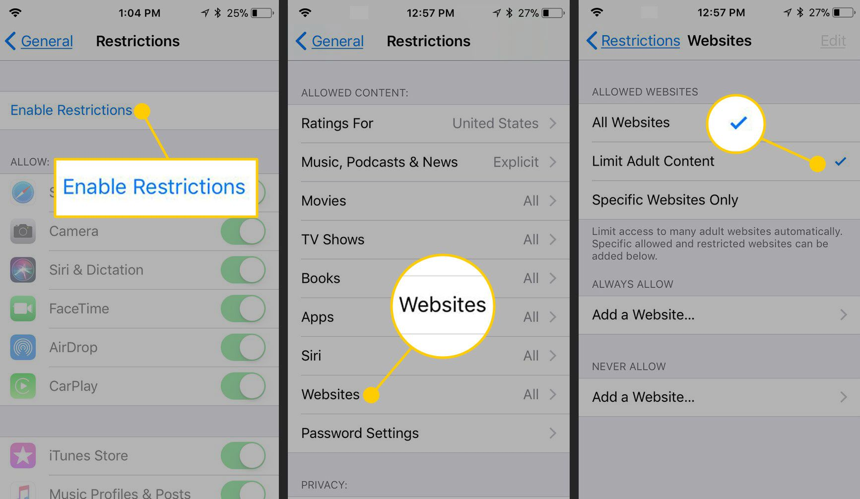 how to block sex websites on iphone