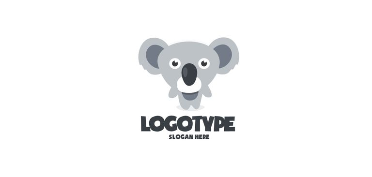 A Free Logo Template With Koala