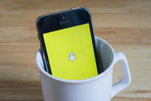 An image of the Snapchat app on a smartphone.