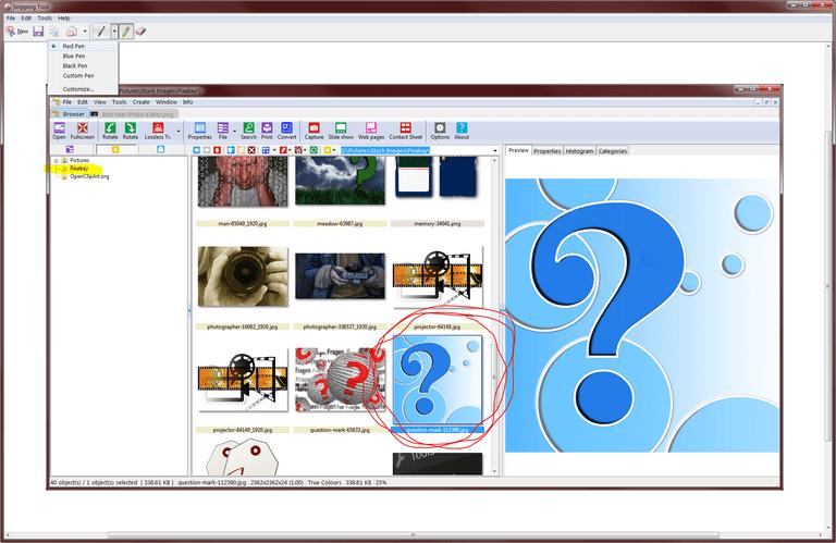Windows Vista Snipping Tool