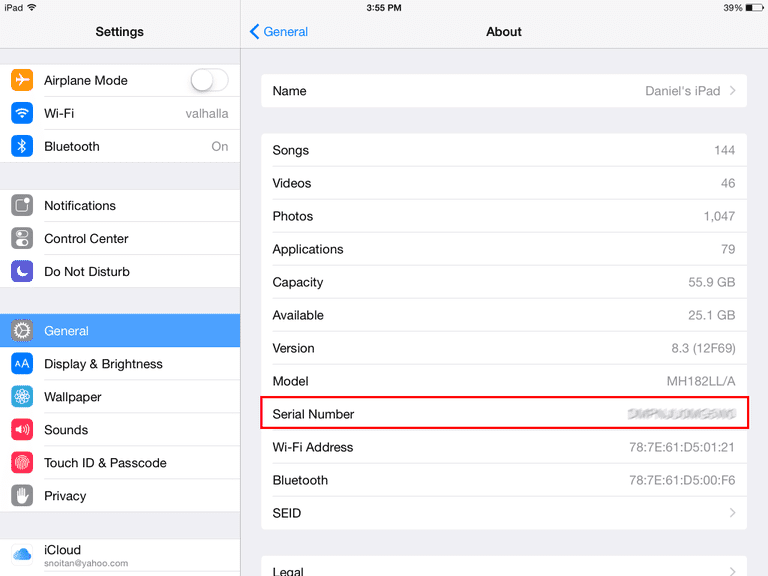How to Find Your iPad's Serial Number