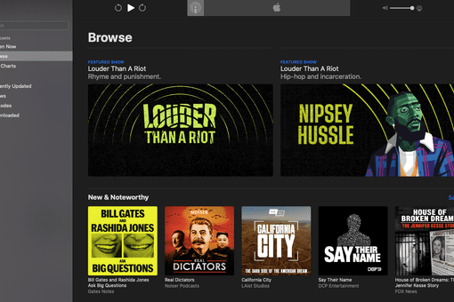 Apple Podcasts browser
