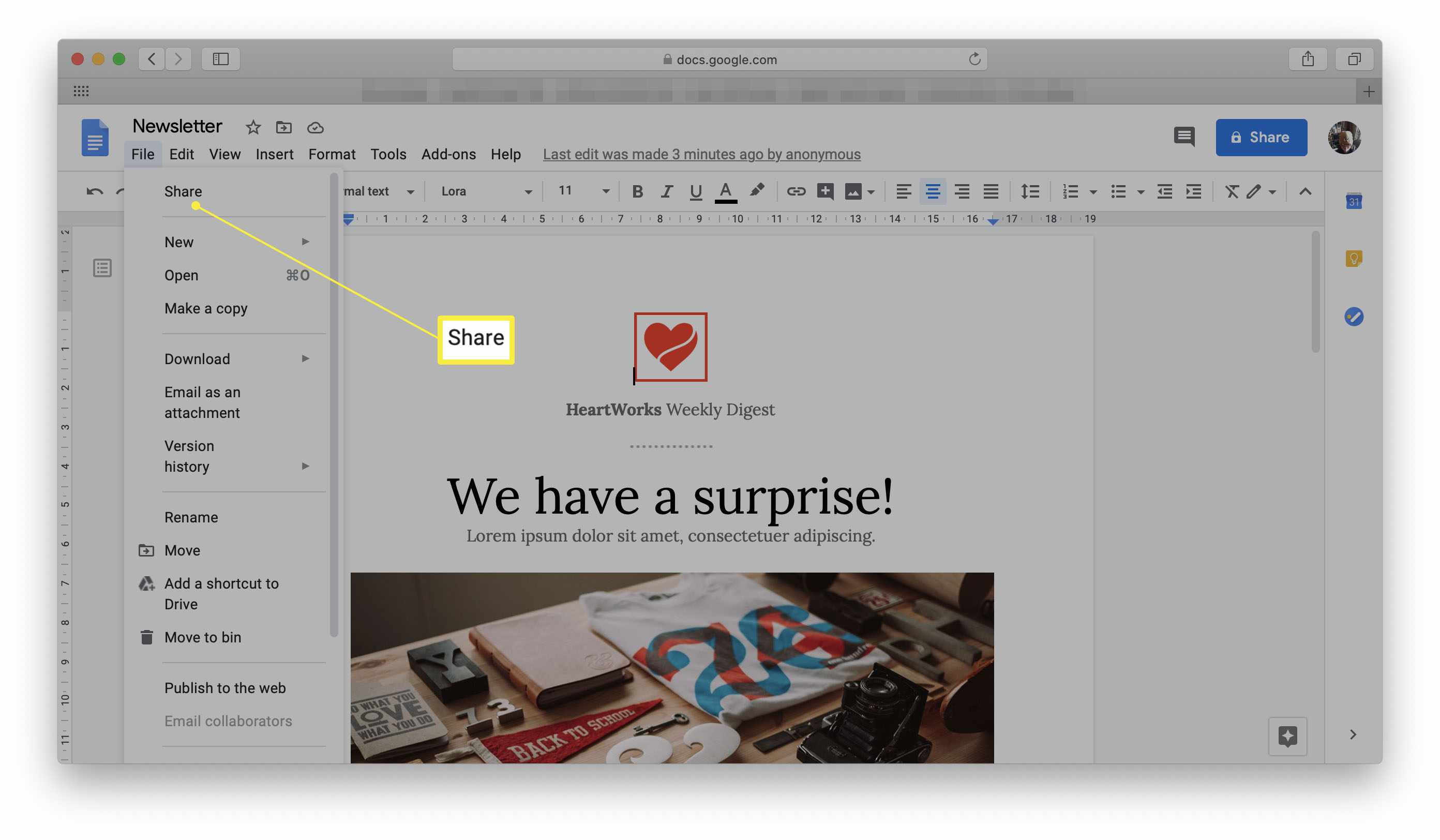How to Use the Google Docs Flyer Template
