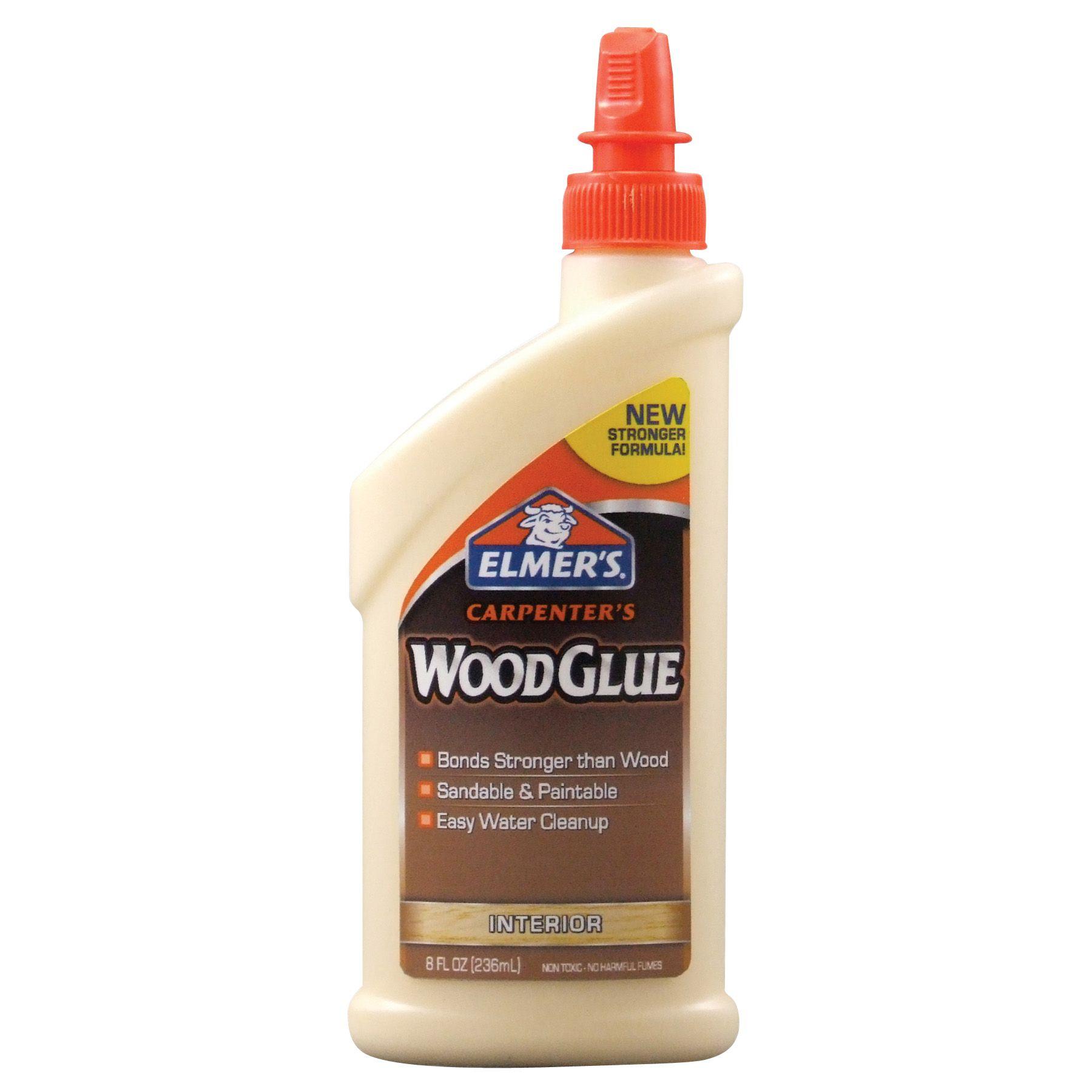 An 8 oz bottle of Elmer's wood glue