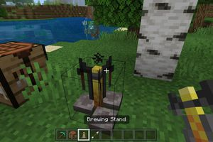 A Brewing Standing in Minecraft