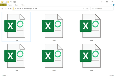 ODS files in Windows 10 that open with MS Excel