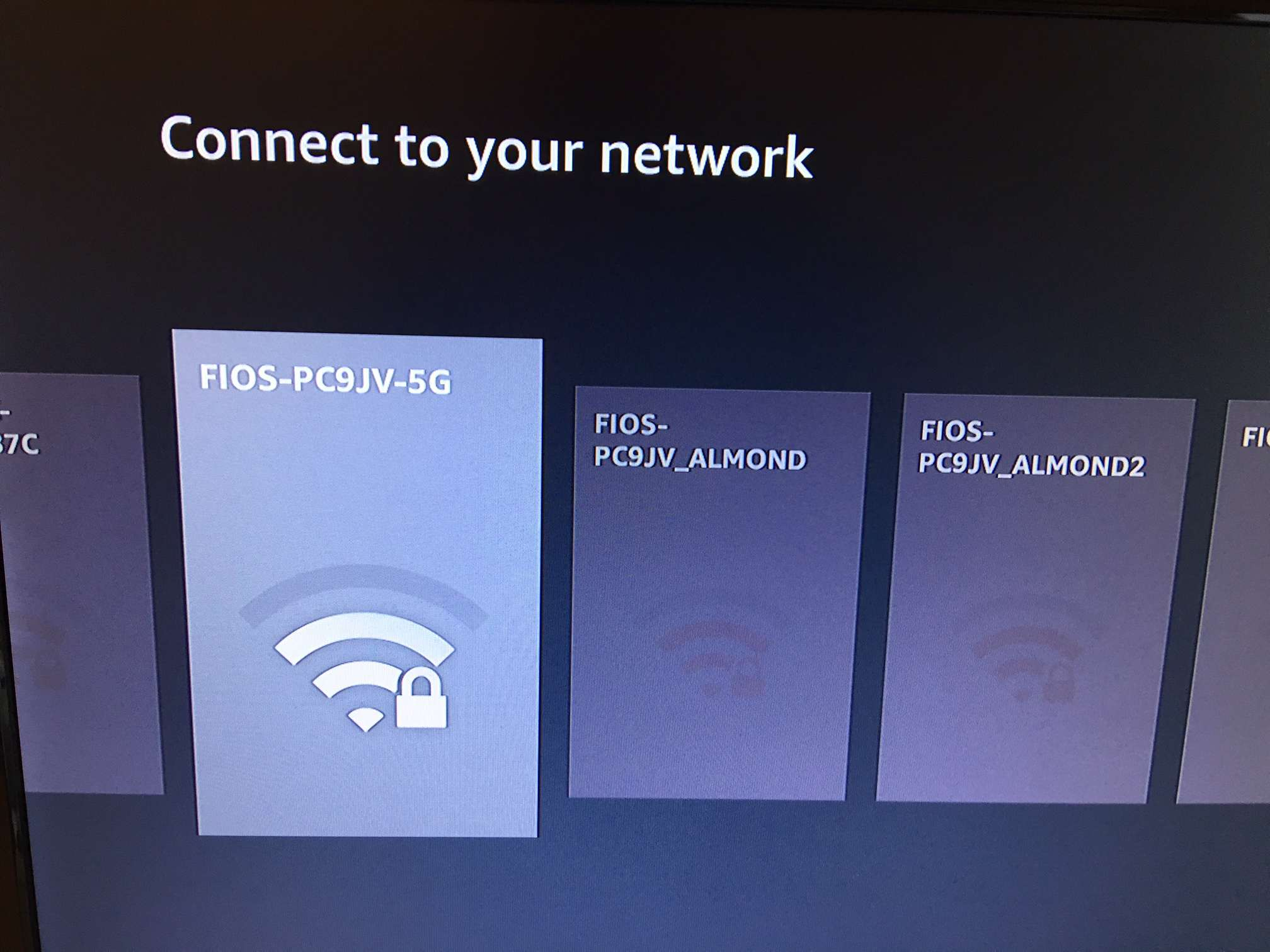 How To Set Up And Use Amazon Fire Tv Directv Wireless Wiring Diagram A Picture Of Screen With Amazons Showing The Connect Your Network