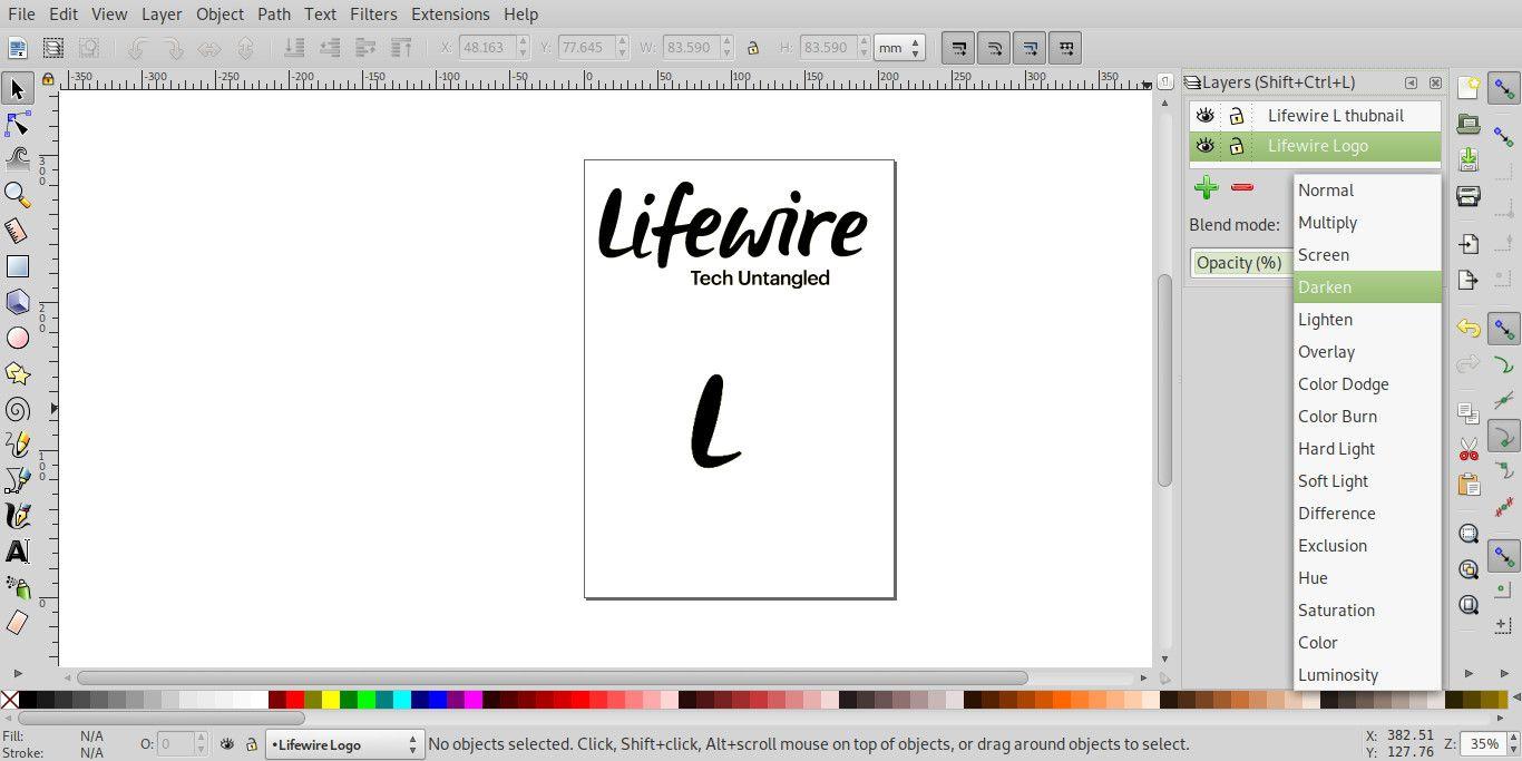 Inkscape blend modes