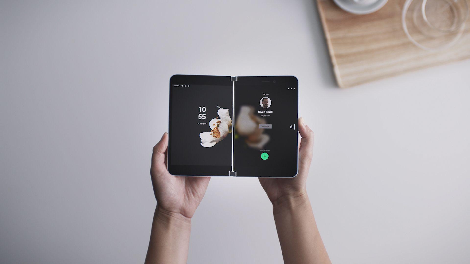 Microsoft Surface Duo smartphone.