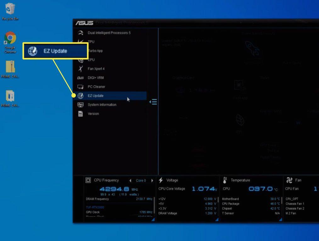 EZ Update in Asus AI Suite 3