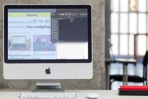 An iMac with a screenshot in progress