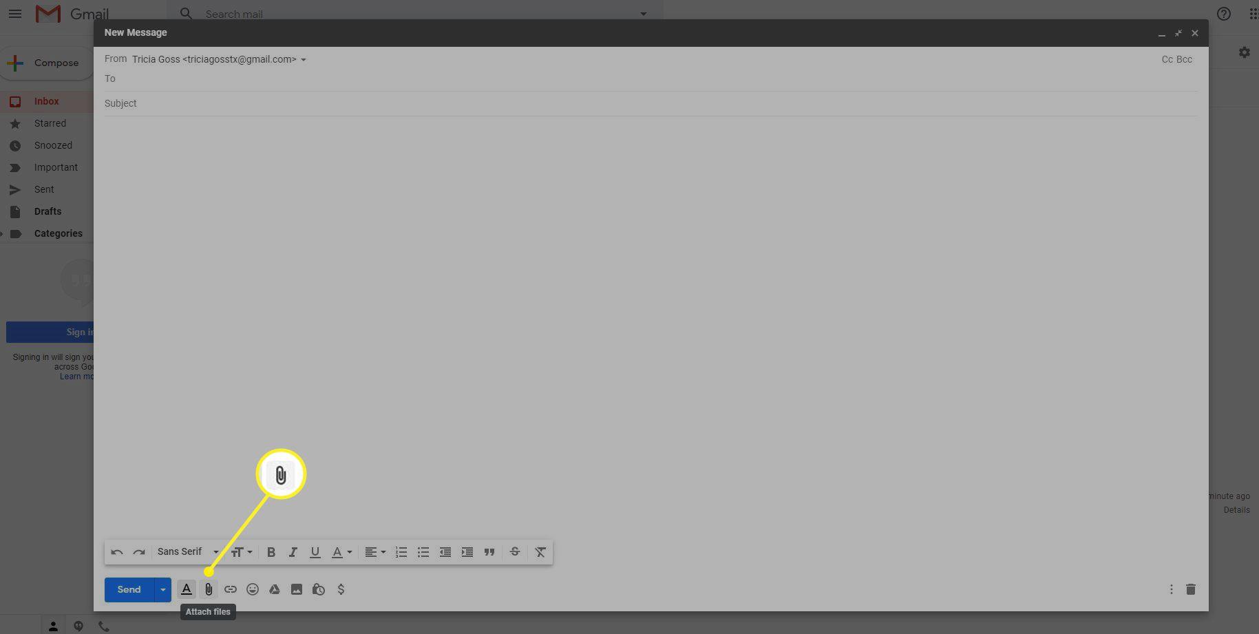 Attach Files icon in Gmail