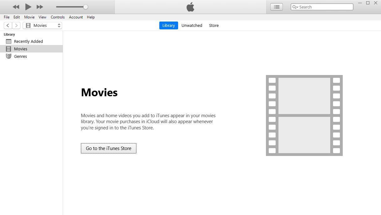 A screenshot of iTunes Movie screen