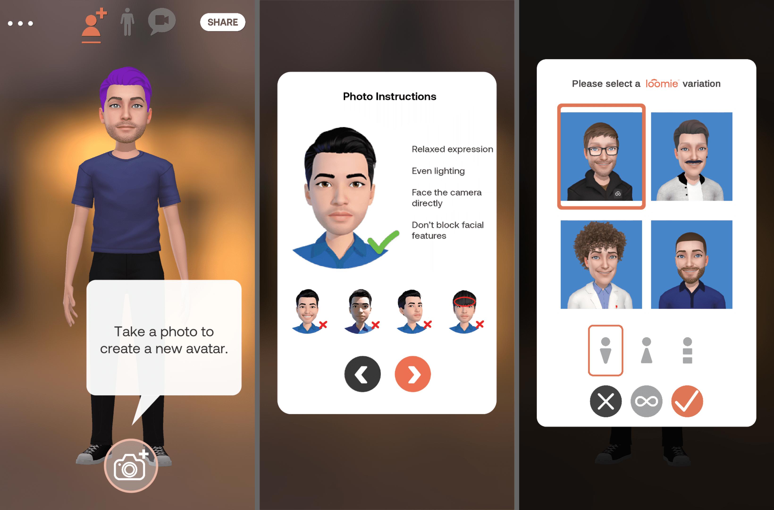 Loomie avatar on the Android app