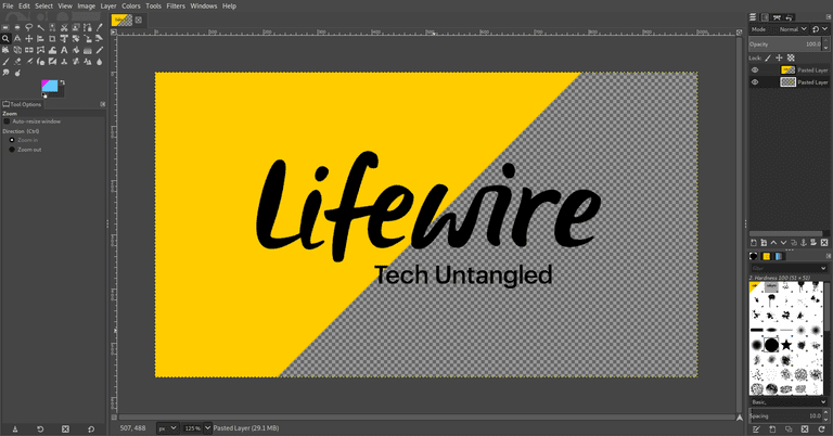 Lifewire logo with the background removed from half