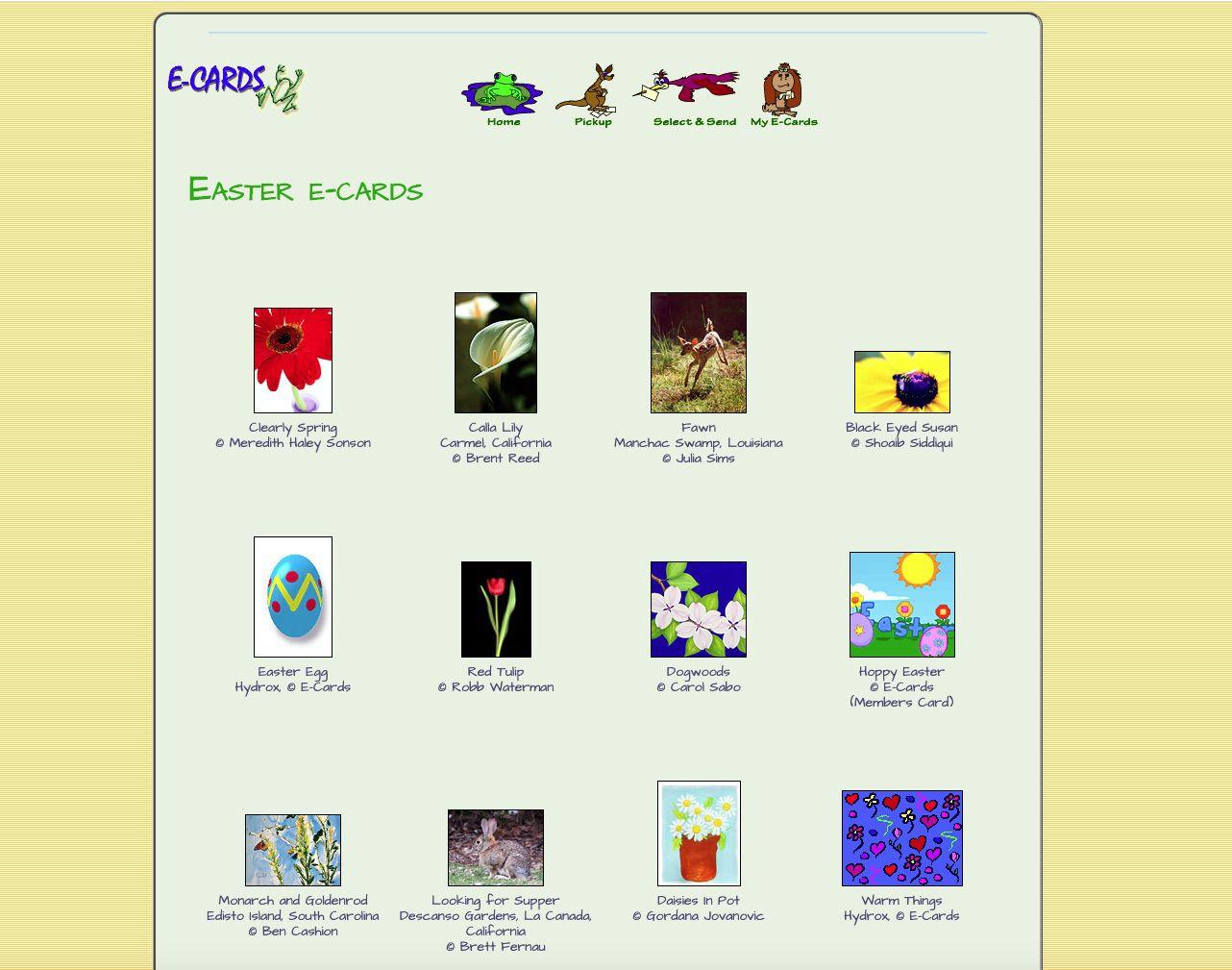 Free Easter E-Cards from ECards.com