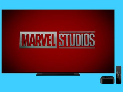 Marvel Studios logo on a TV screen