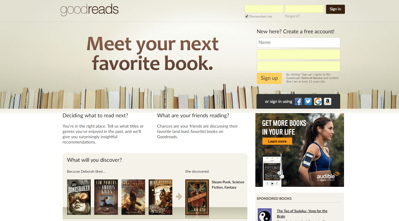 goodreads dating site