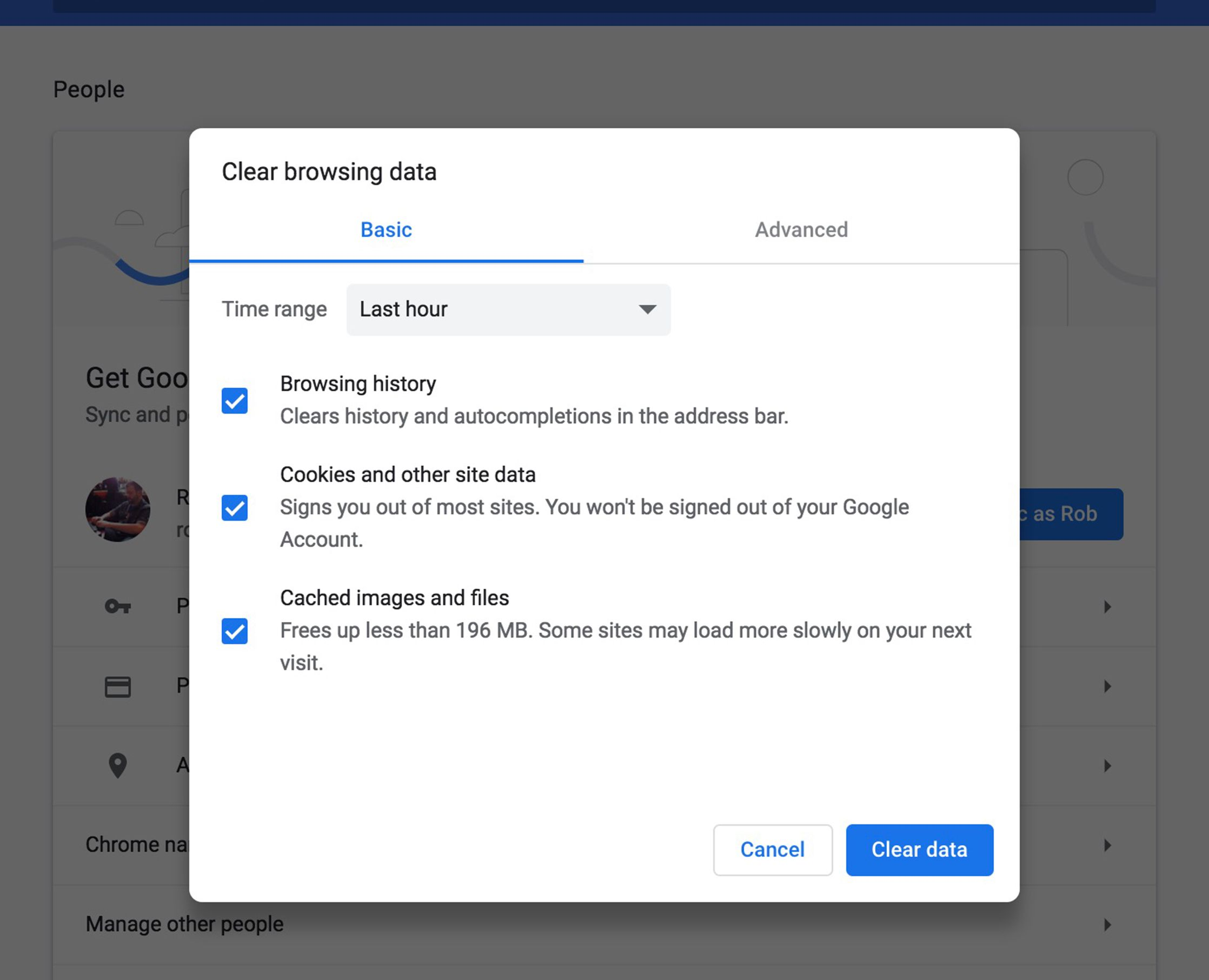 Clear Private Data and Delete History in Google Chrome