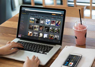 plex running on a laptop