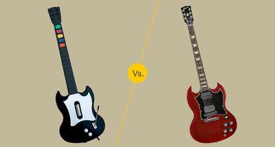 Guitar Hero Controller vs Guitar