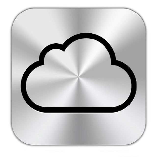 iCloud button