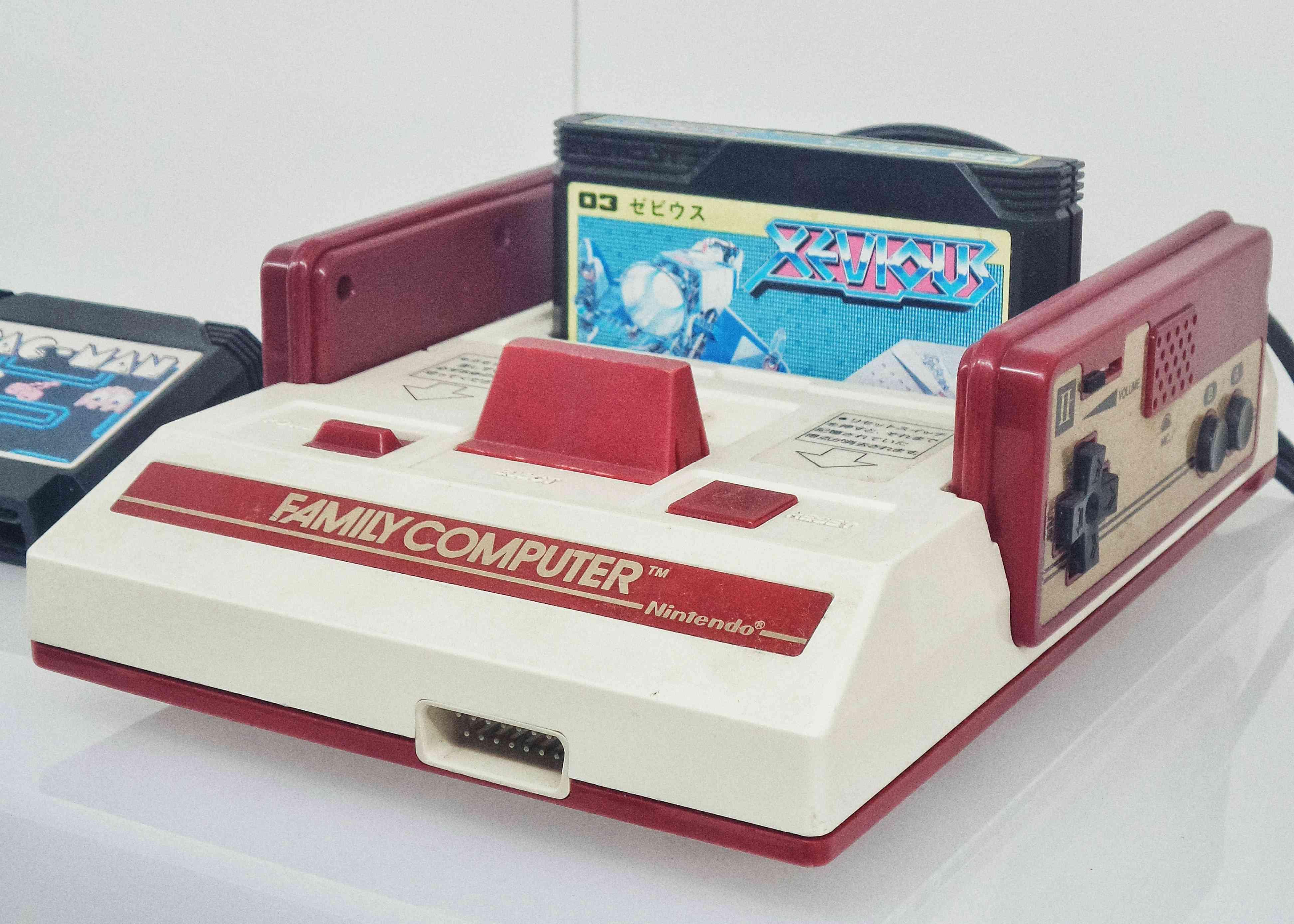 A retro Nintendo gaming system called