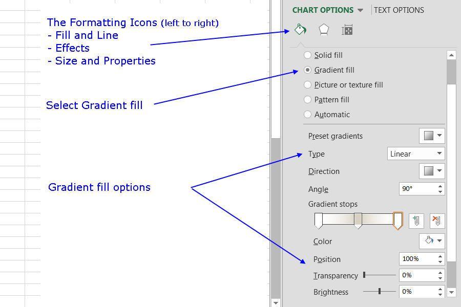 Change Column Colors Show Percent Labels In Excel Column Chart
