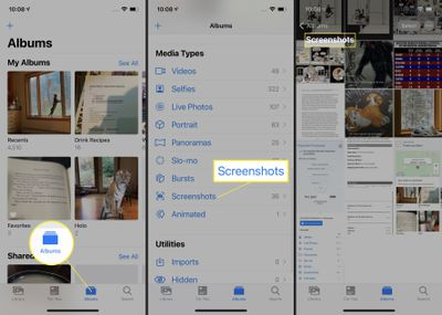 Where to find screenshots on your iPhone 12.