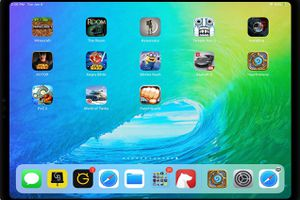 iPad screenshot with several best iPad games on it, including Hearthstone, Minecraft, The Room, and PunchQuest