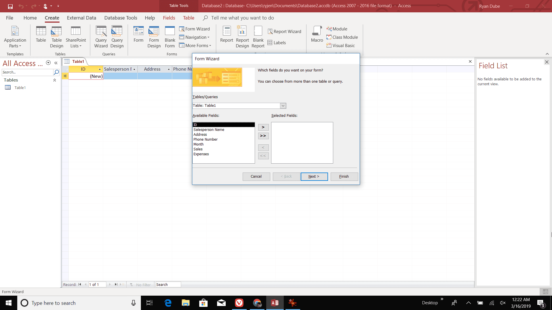 Use Access Input Forms to Enter and Modify Data