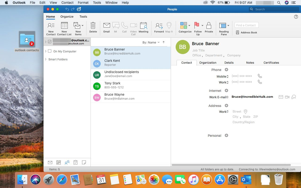 Import Outlook Contacts Into macOS Contacts for the Mail App