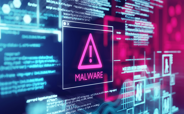 Image of a malware alert on a computer screen