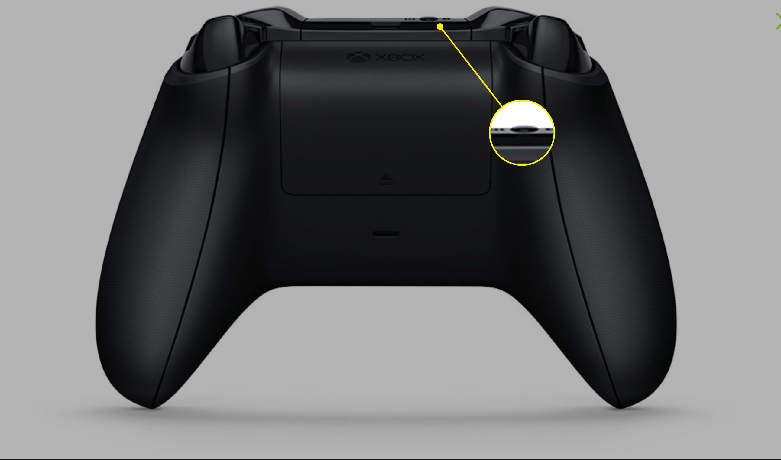 The Sync button on an Xbox One controller