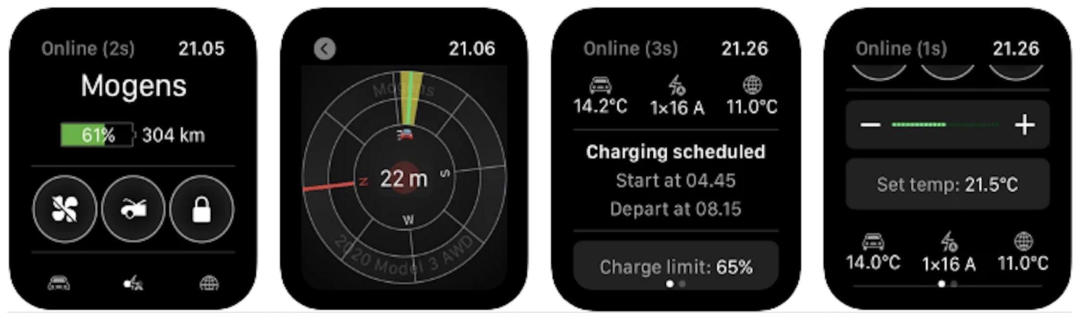 Watch App for Tesla charging indicators