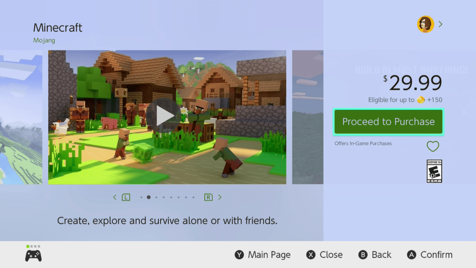 Proceed to Purchase selected in the Nintendo eShop.