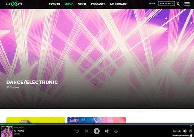 LiveXLive streaming music