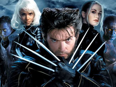 An X Men poster featuring several characters from the movies.