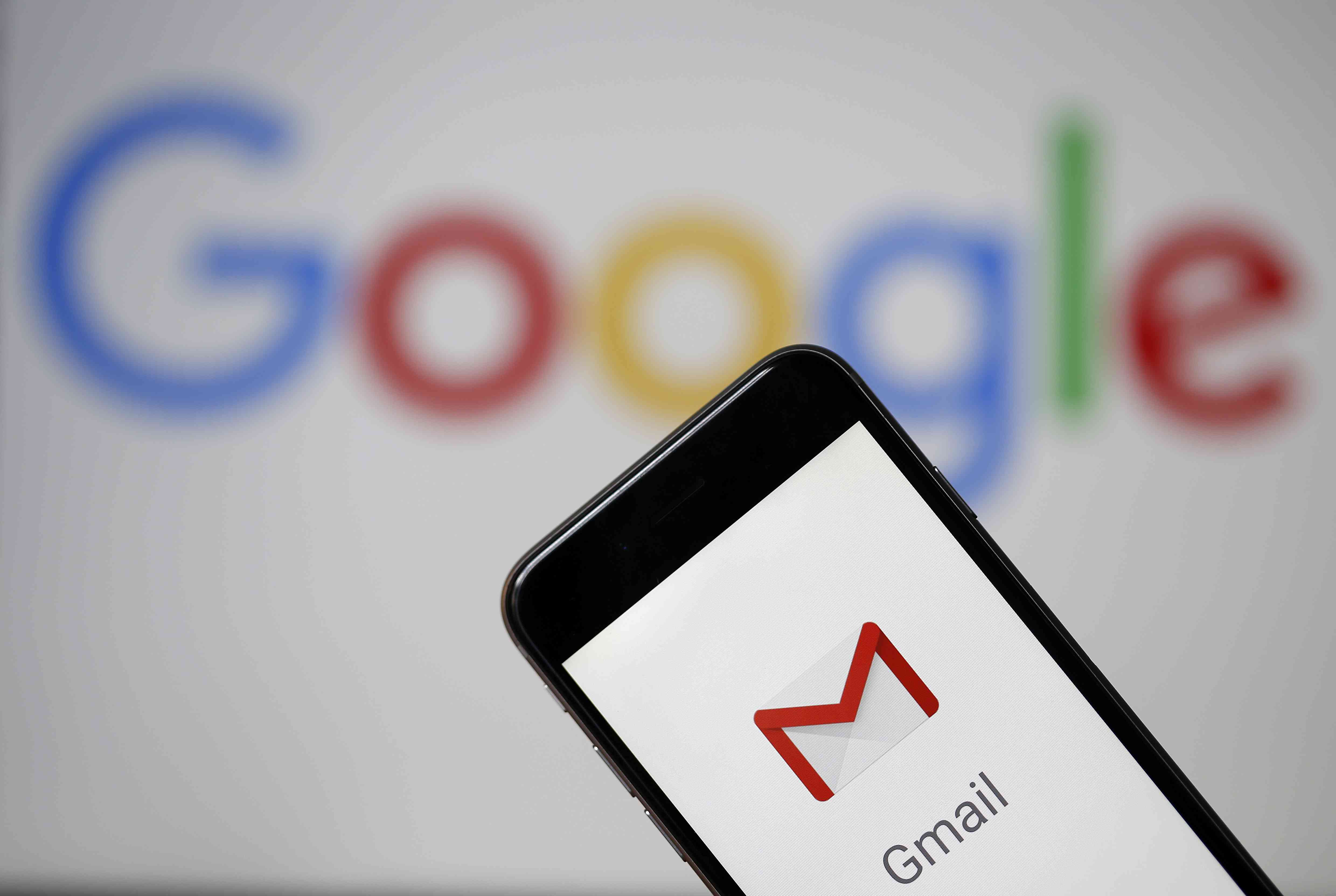 An image of the Gmail app opening on a smartphone.