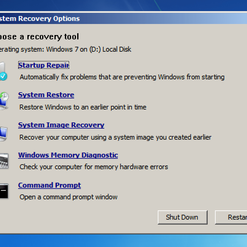 System Recovery Options (What It Is and How to Use It)