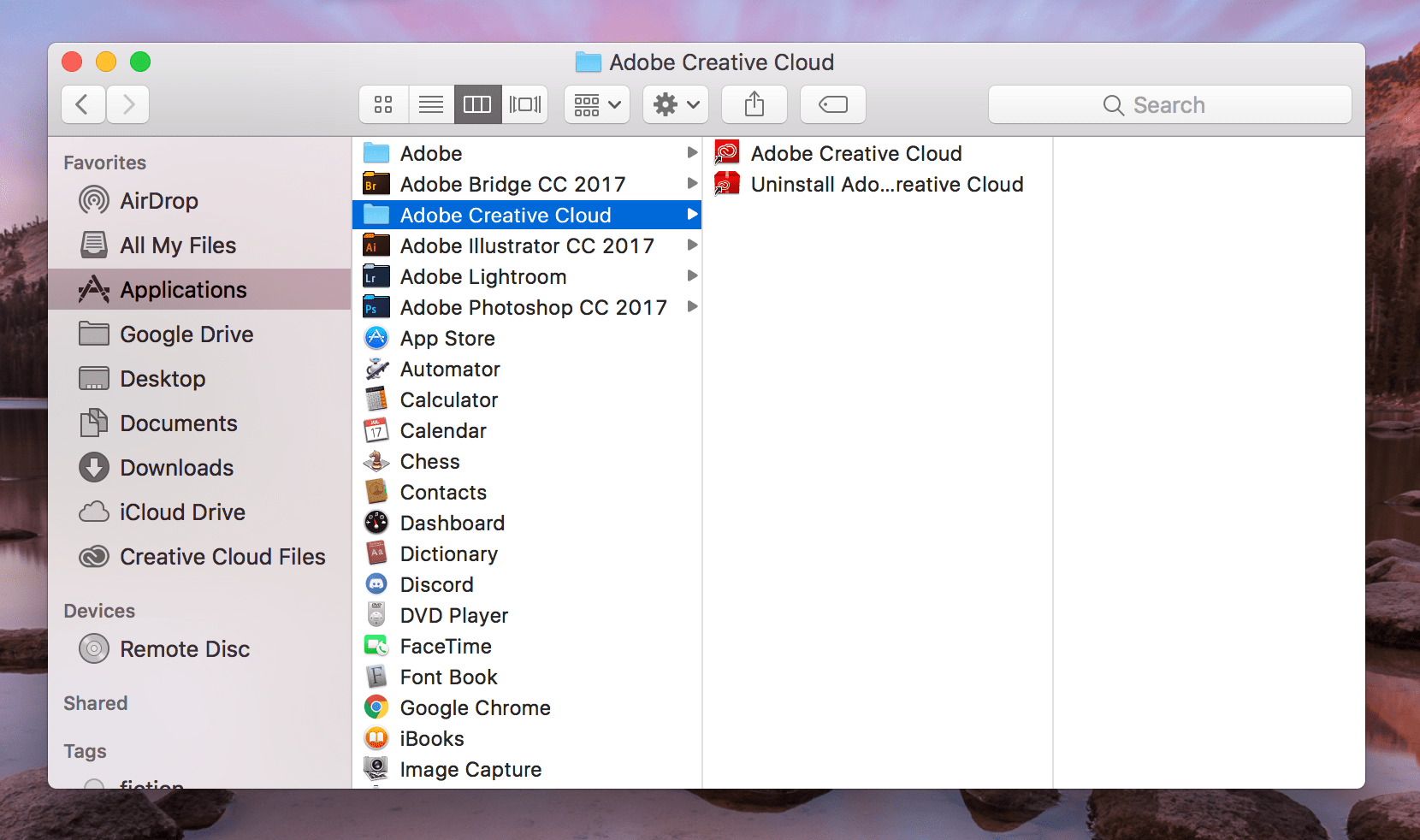 uninstall google drive from mac