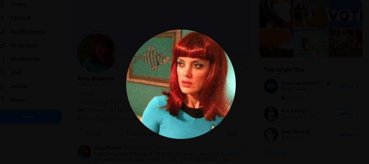 Amy Mainzer on Twitter