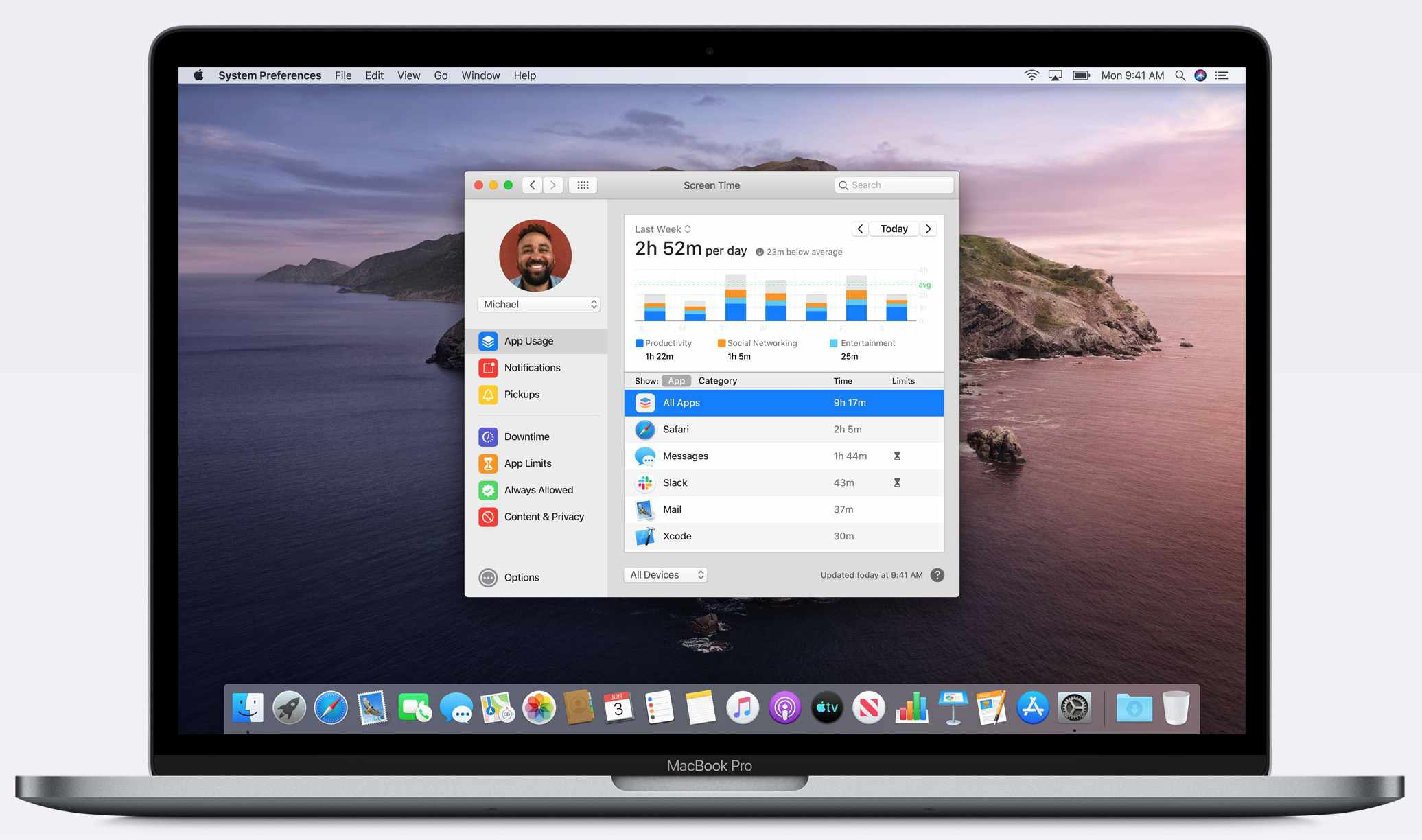 Screen Time on macOS Catalina