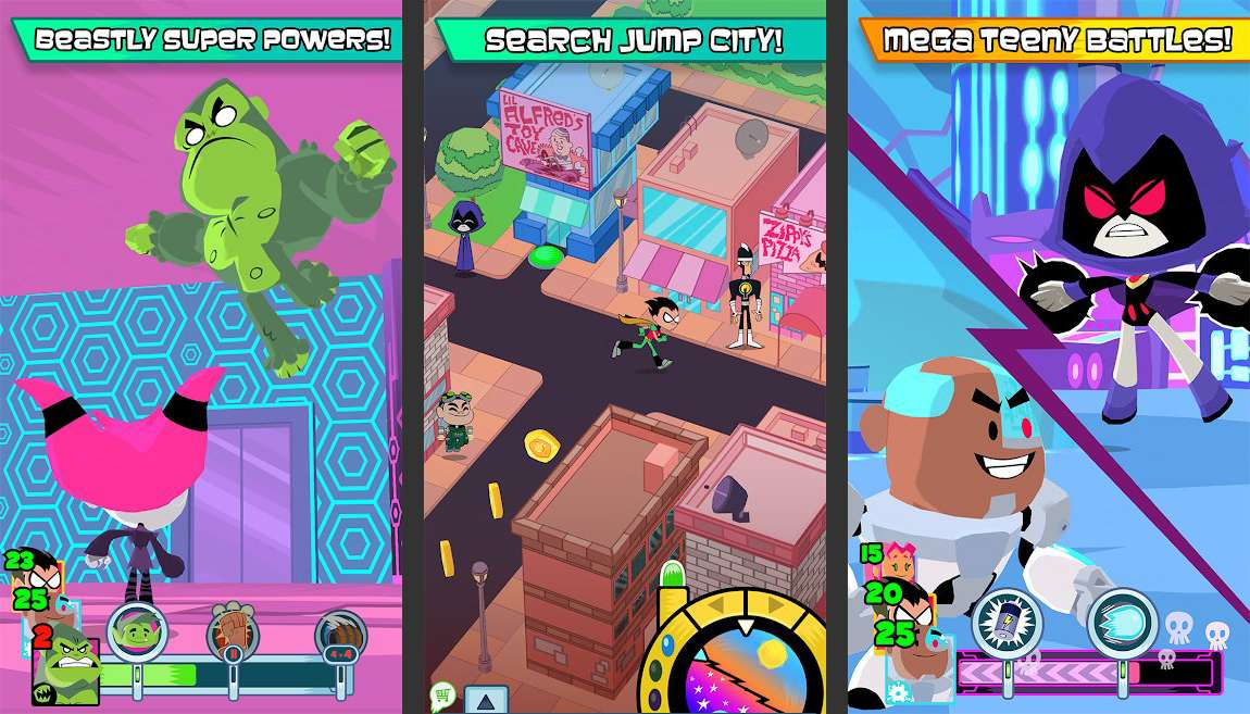 Teeny Titans mobile game for Android