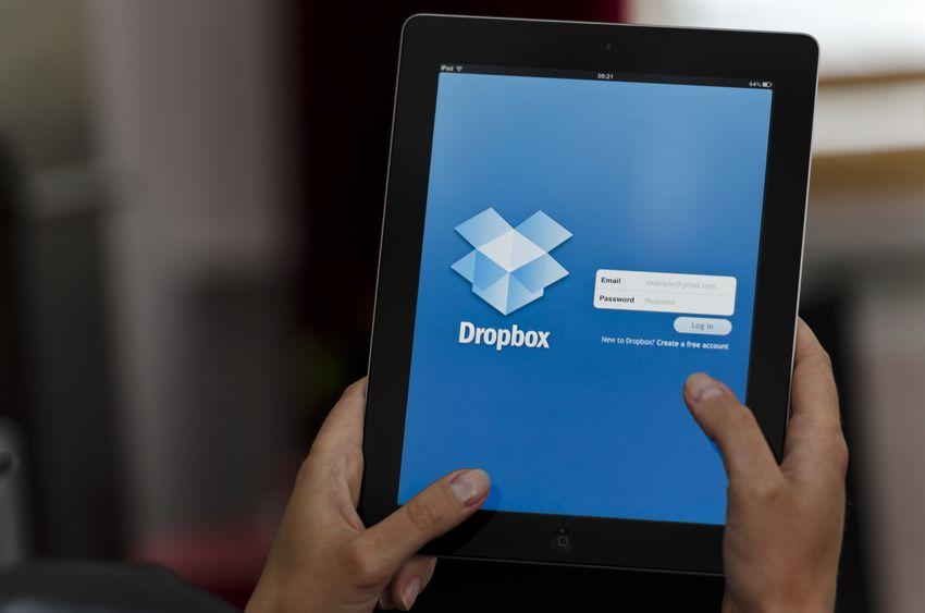 iPad device with Dropbox app