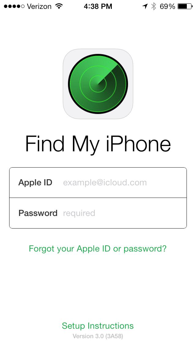 find my phone apple